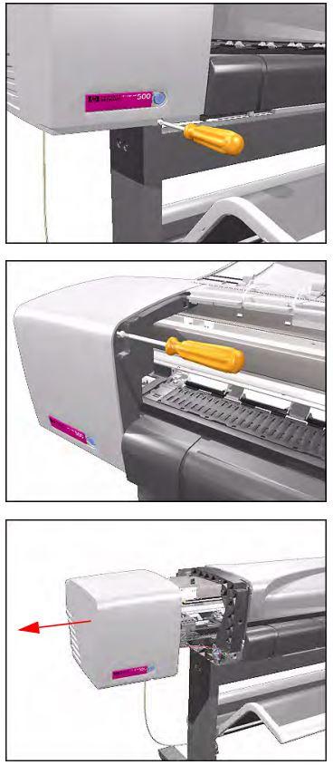 замена ремня каретки плоттера hp designjet 500, 510, 800